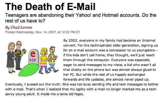 The Death of E-Mail