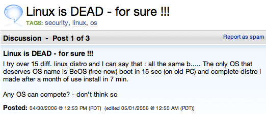 linux is dead