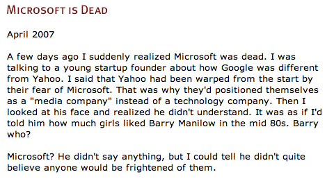 Microsoft is  Dead