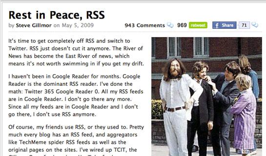 rss is Dead