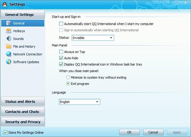 QQ International设置