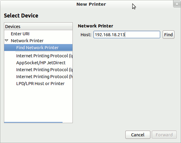 add printer in ubuntu 12.04