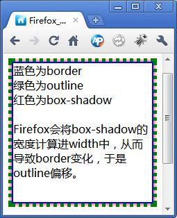 Chrome正常显示outline和box-shaodw