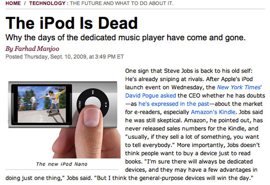 The iPod is Dead