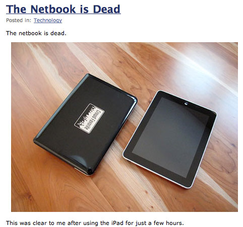 The Netbook is Dead